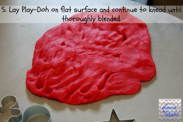Homemade Play Doh step 5