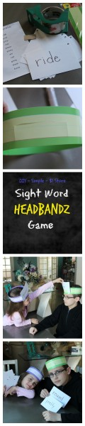 DIY Sight Word Headbandz Game Collage