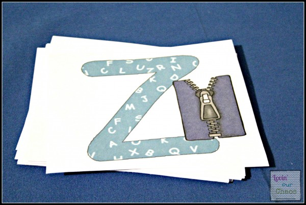 Printable Alphabet Cards with sound pictures for pre-k kids