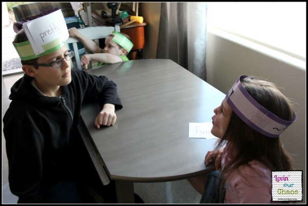 Sight Word Headbandz Game for 1st Graders