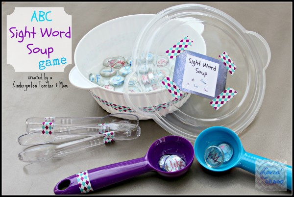 Sight Word Soup Game by a Kindergarten Teacher & Mom