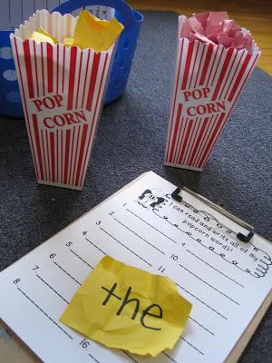 Popcorn Word Work from Mrs Jones Class