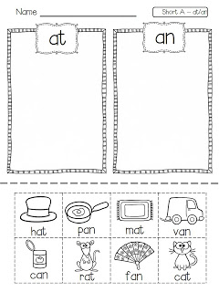 Word Work Short Vowel Picture Sort from Flying into First