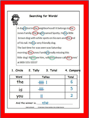 Word Work Word Search from Primary Inspiration