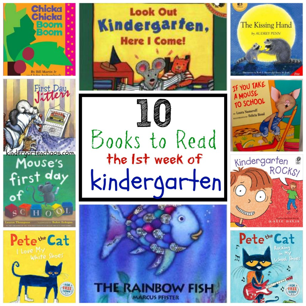 10 Best Books to Read the 1st Week of Kindergarten