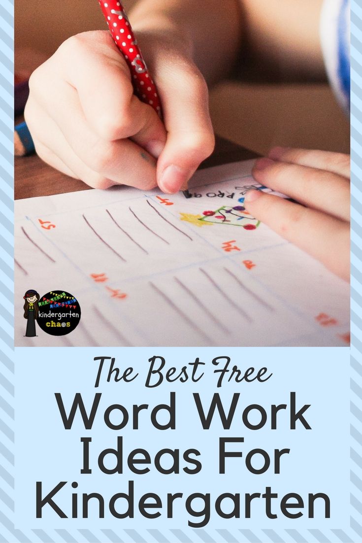 More than 25 of my favorite FREE Word Work ideas For Kindergarten