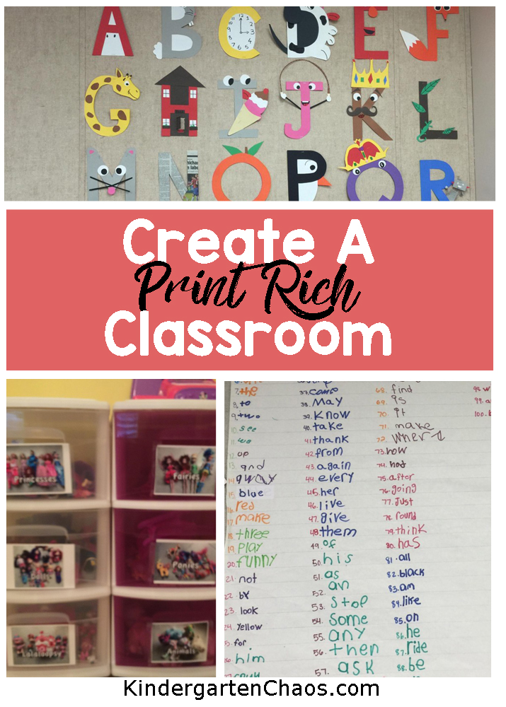 Ideas For How To Create A Print Rich Environment In The Classroom