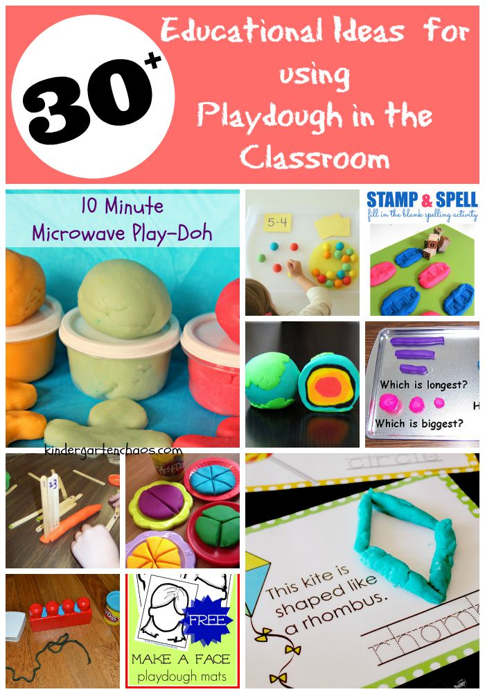 Educational Ideas for Using Playdough in the Classroom