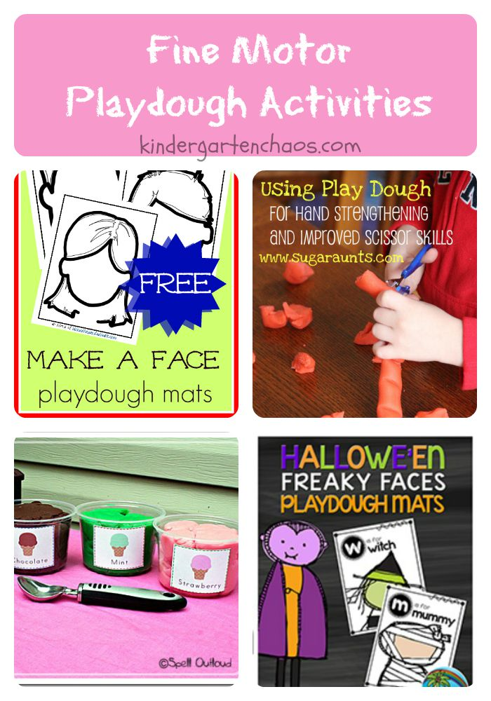 Fine Motor Playdough Activities for the classroom