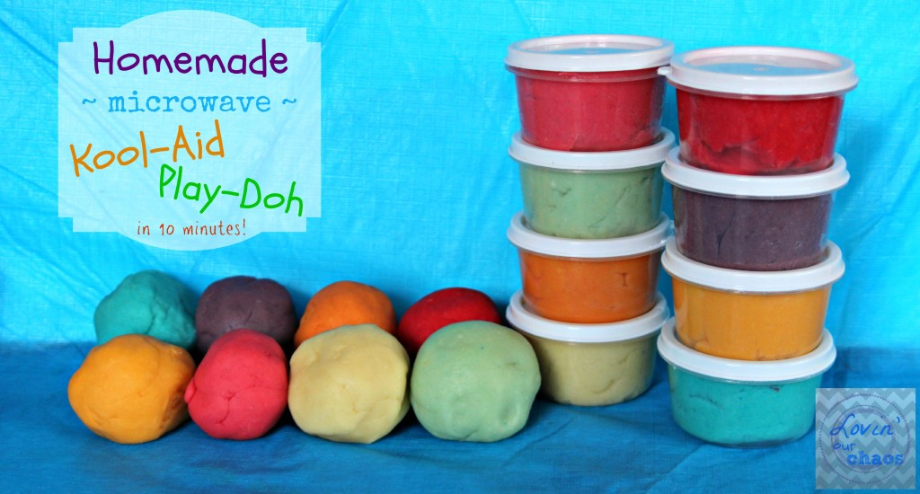 Homemade Microwave Kool Aid Play Doh