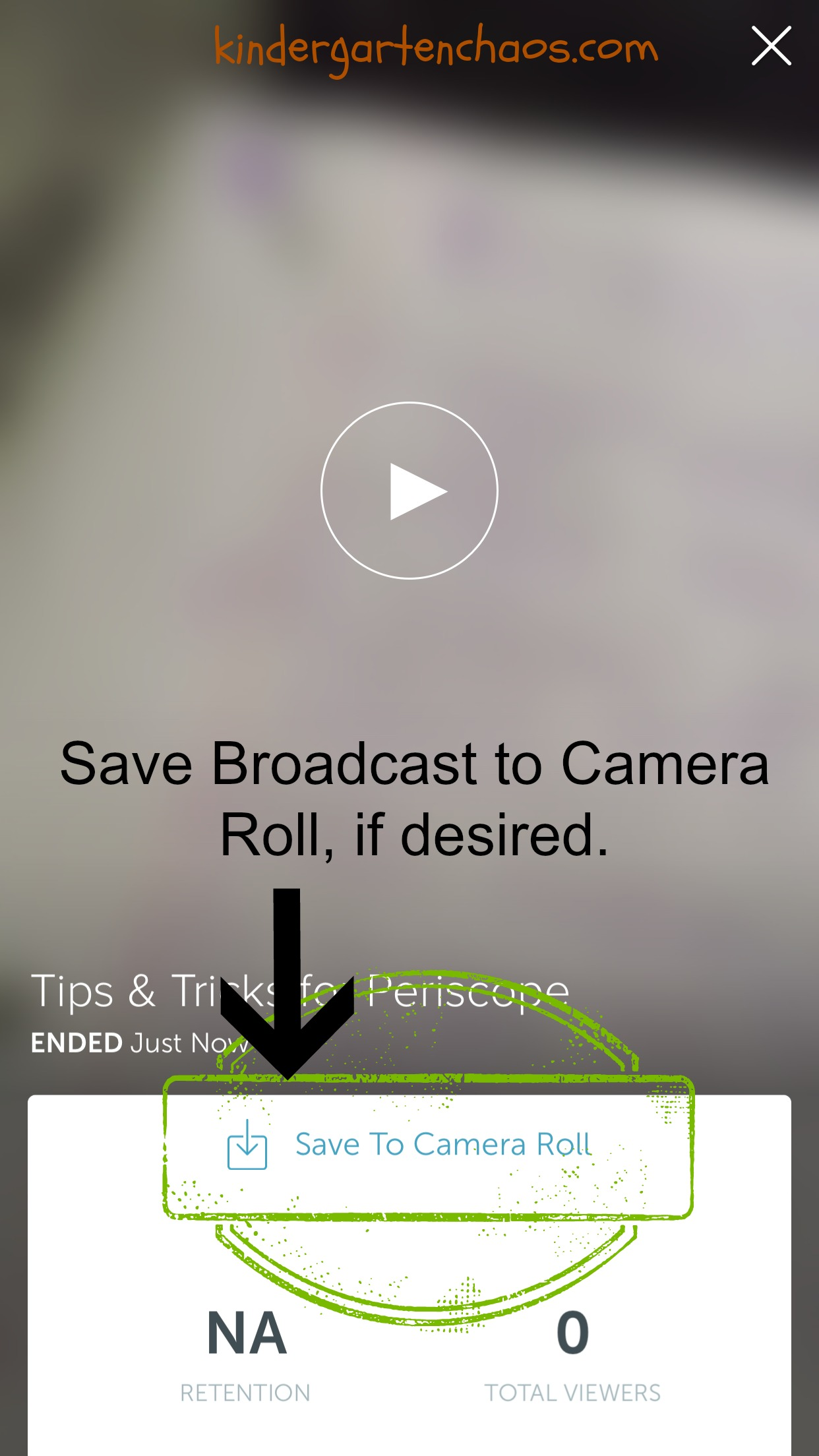 How to save your periscope broadcast