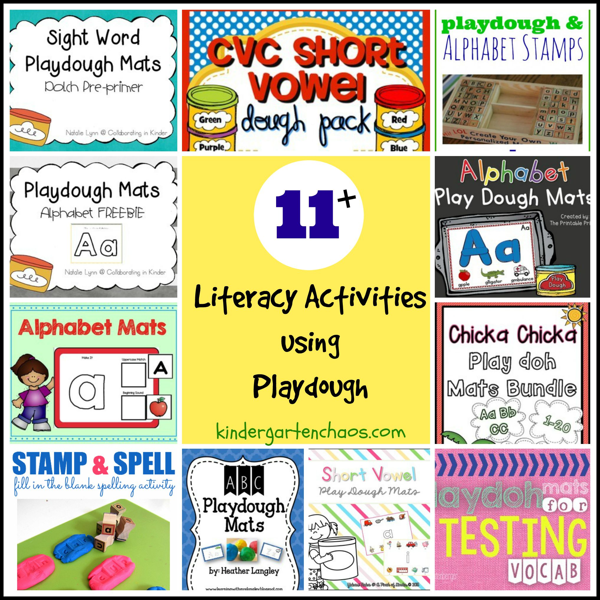 Playdough Literacy Activities