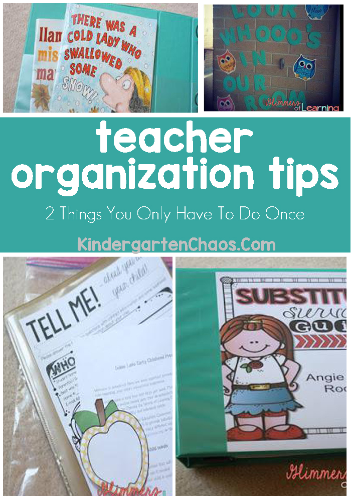 Teacher Organization: 2 Things You Will Only Have To Do Once To Stay Organized All Year!