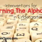 Interventions for Learning the Alphabet