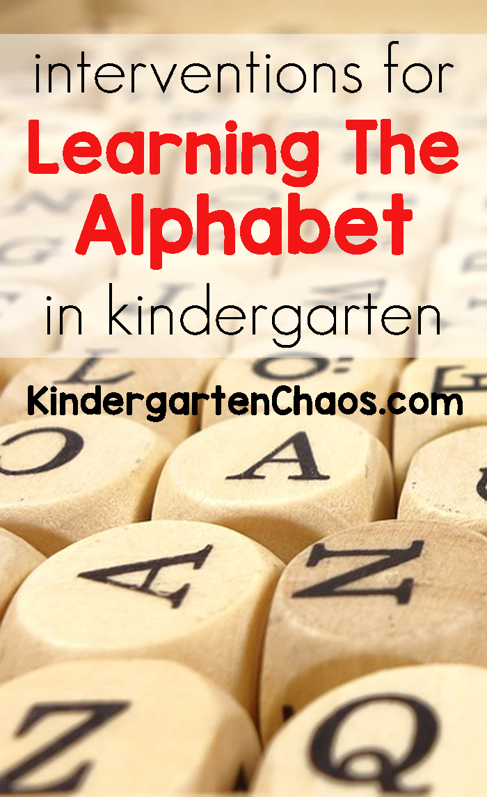 Interventions For Learning The Alphabet In Kindergarten