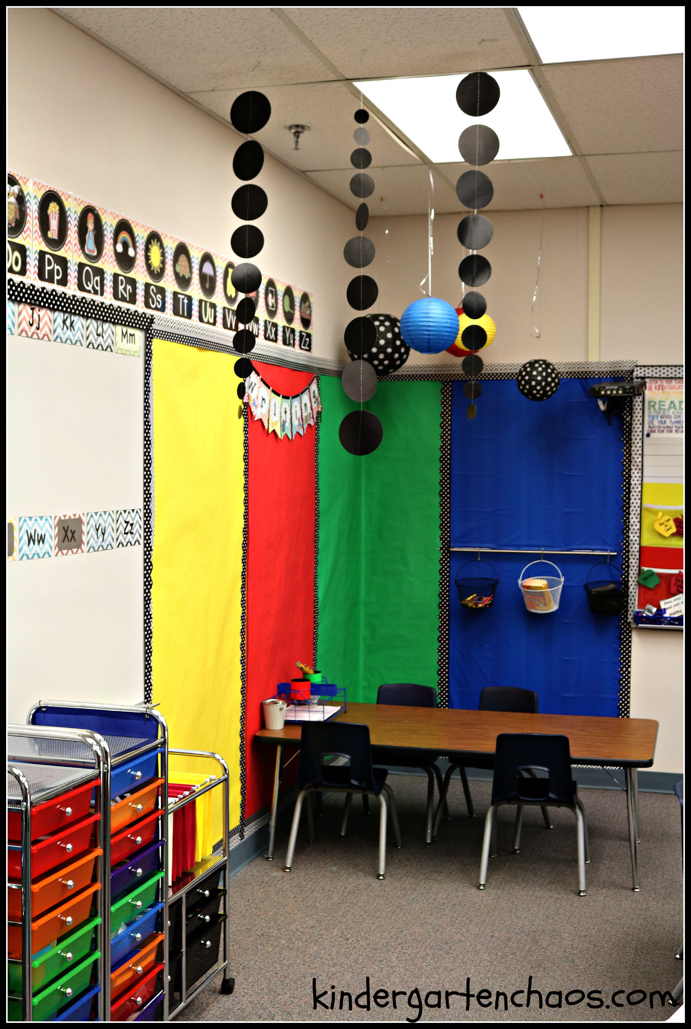 Kindergarten Classroom Hanging Decoration ~ My kindergarten classroom reveal organization