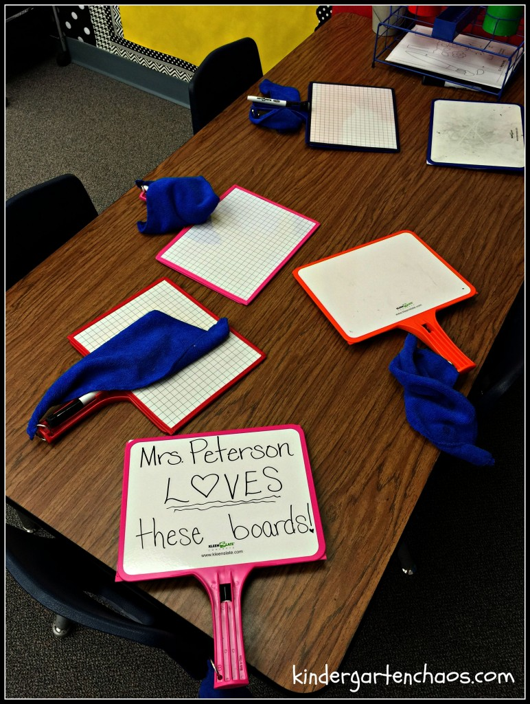 Kleen Slates in the Classroom - kindergartenchaos.com