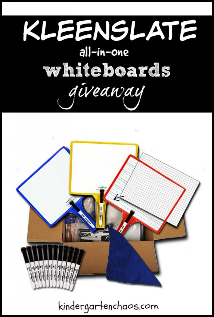 KleenSlate Whiteboards giveaway - kindergartenchaos.com