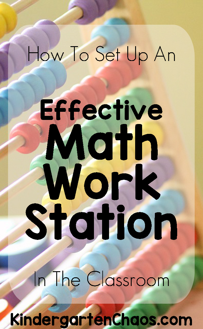 How To Set Up An Effective Math Work Station In The Classroom - 15 minutes 2 times a week