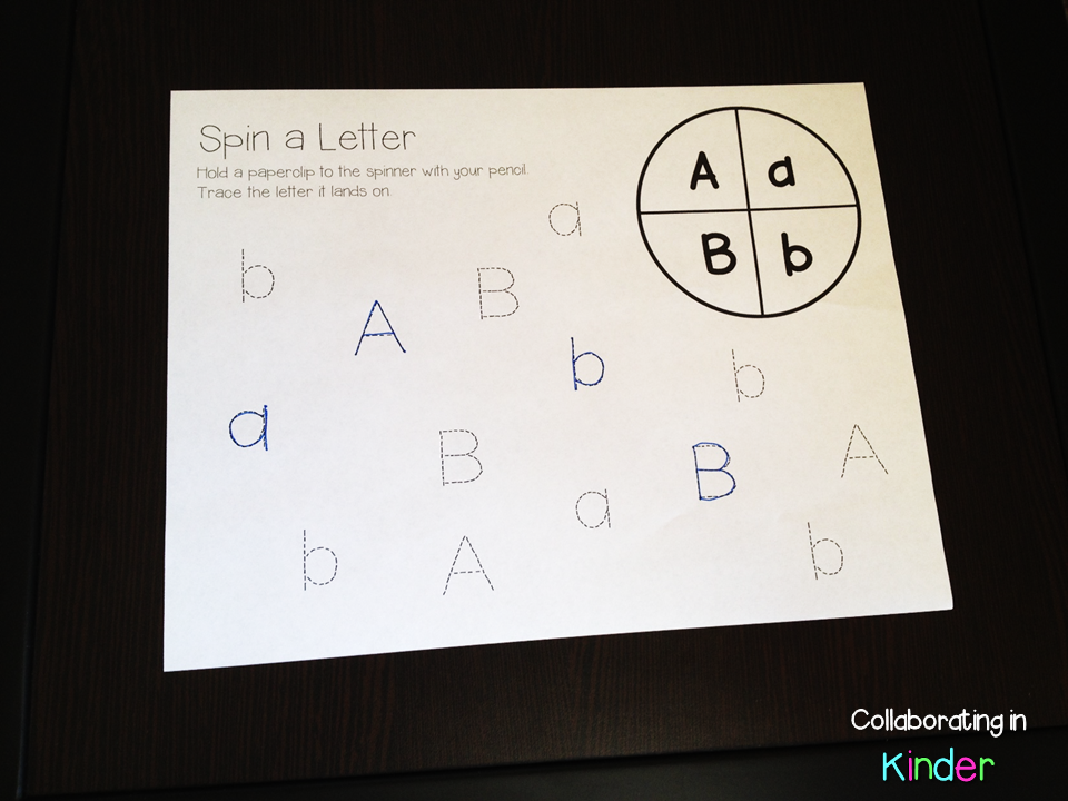 Spin a Letter Game