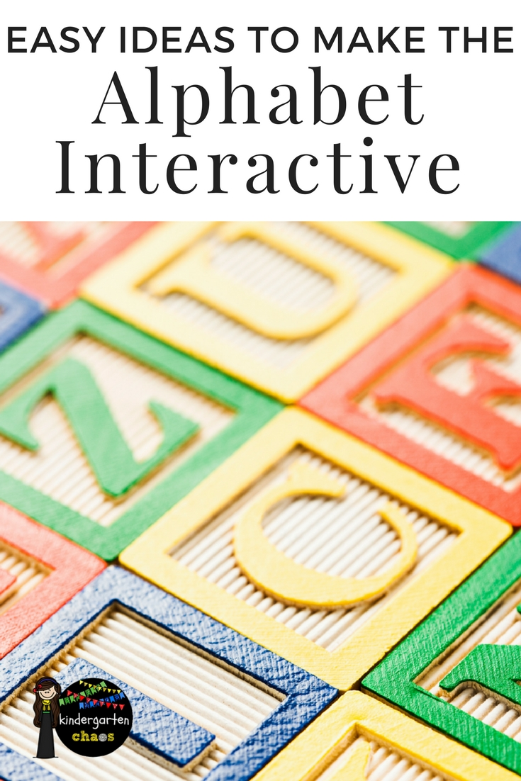 These interactive alphabet activities are the epitome of hands on activities!