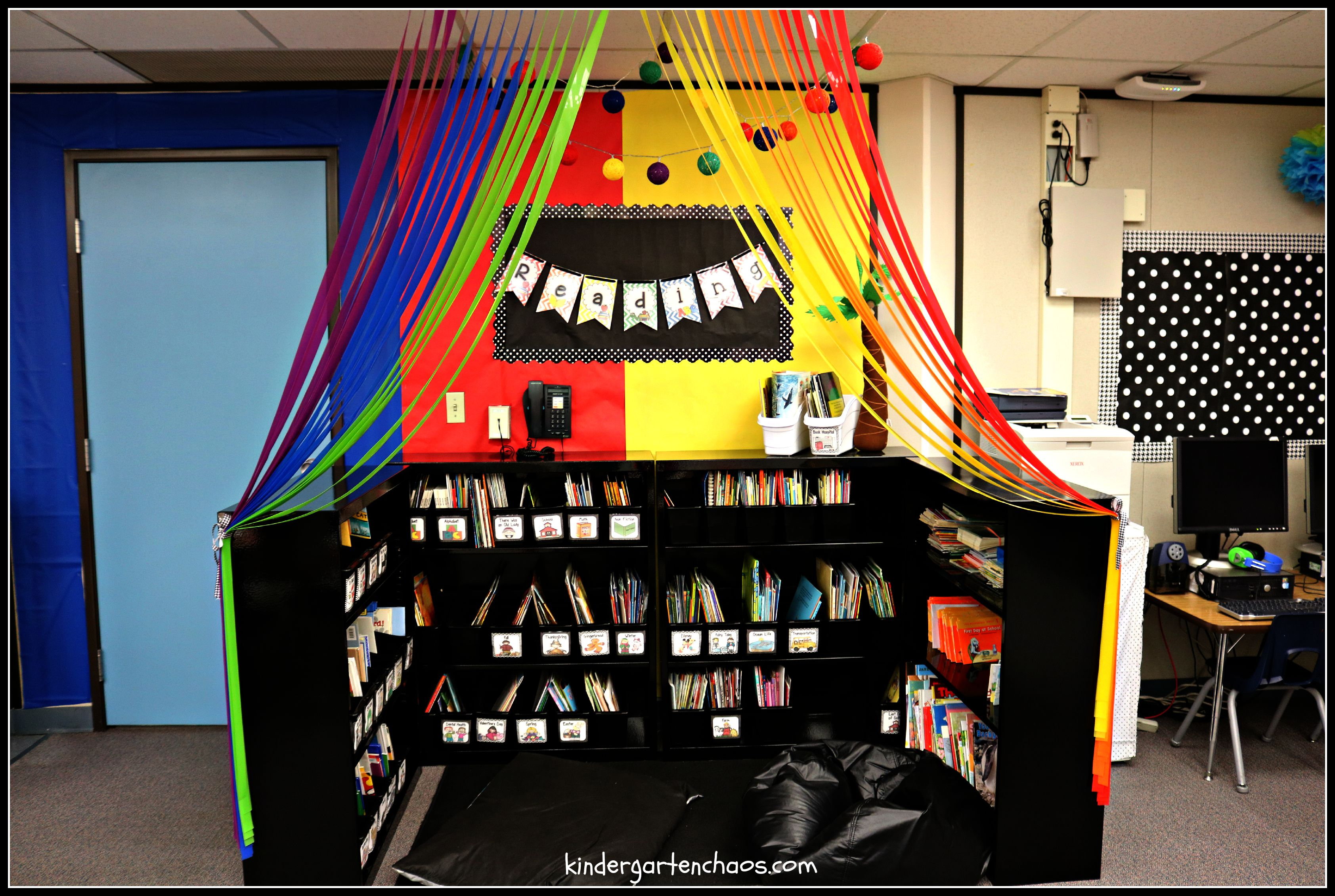 Classroom Library Decorating Ideas ~ My kindergarten classroom reveal organization