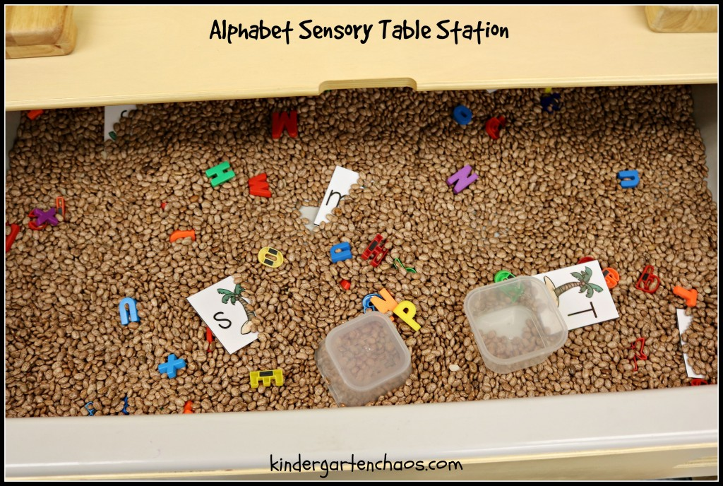 Alphabet Sensory Table Station