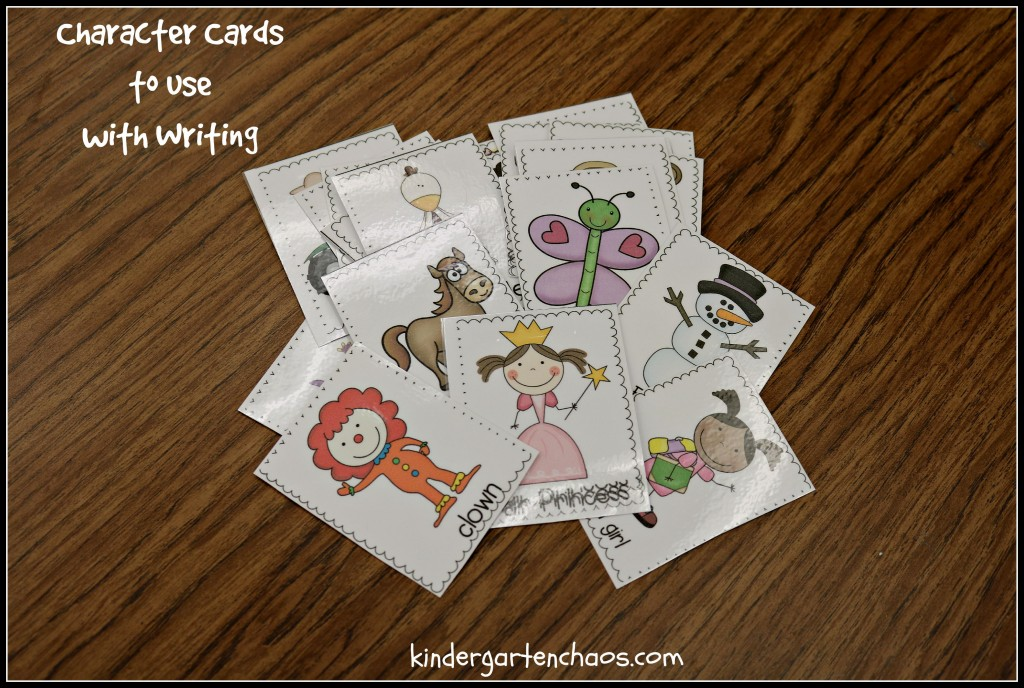 Character Cards to Use with Writing