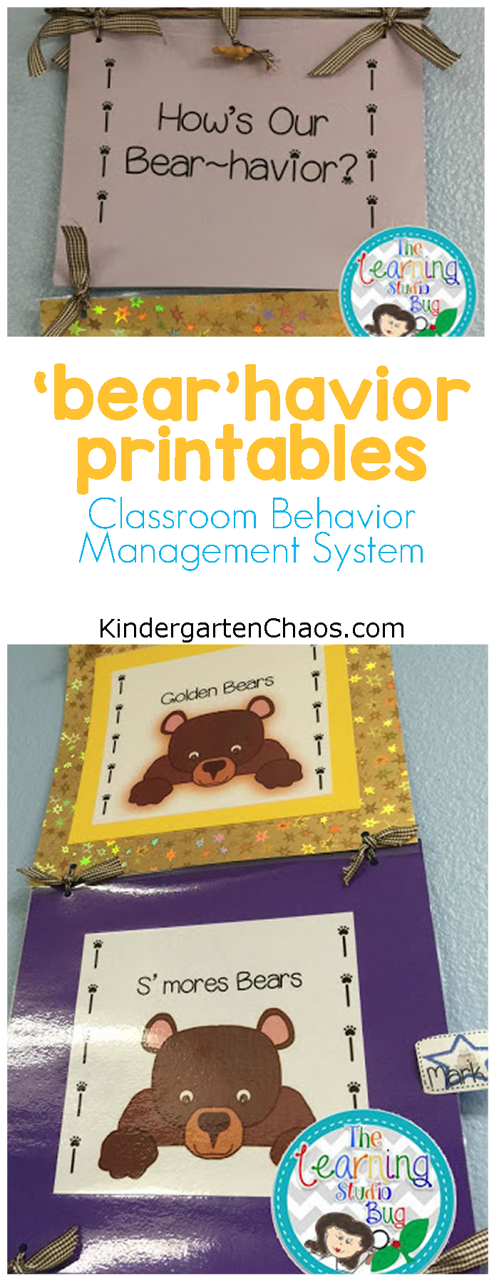 """Bear""Havior Printables - Classroom Behavior Management System"