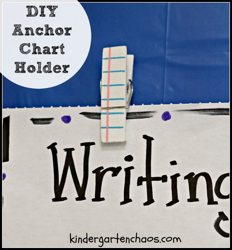 DIY Anchor Chart Holder