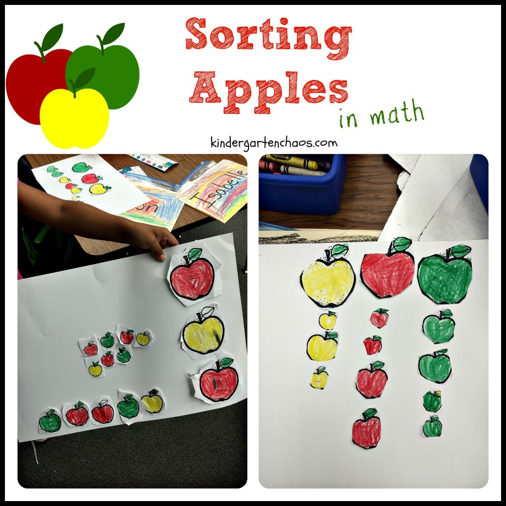 Sorting Apples in Math - Kindergarten Chaos