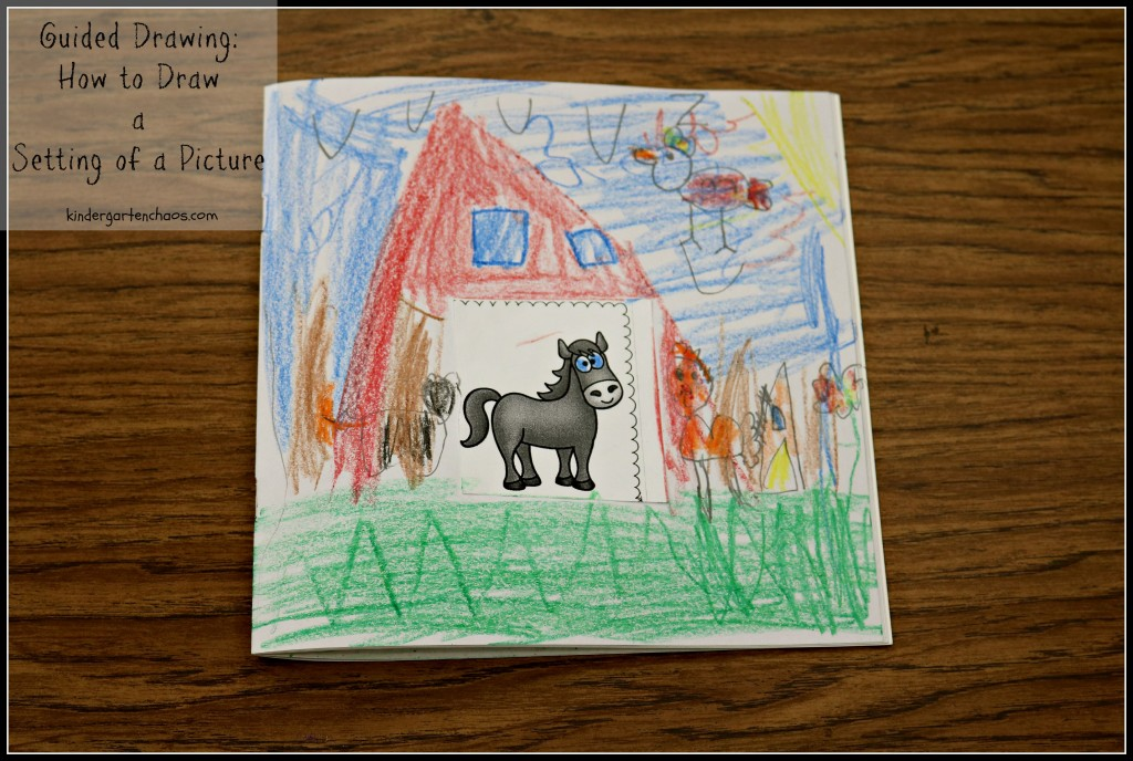 Teaching Kindergartners Guided Drawing - Setting of a Picture