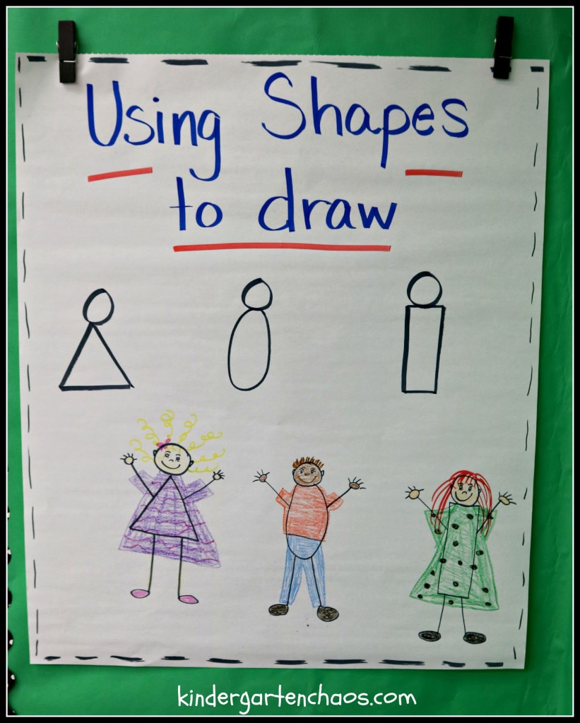 Teaching Kindergartners to Write - Using Shapes to Draw Characters
