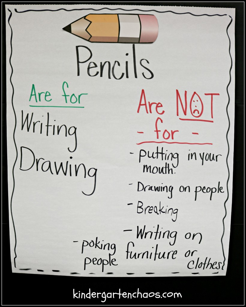 Using Pencils Anchor Chart