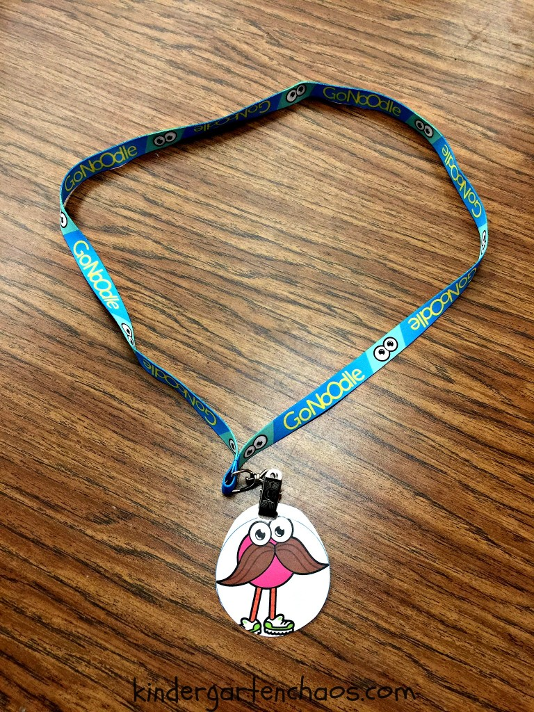 GoNoodle Lanyard Queen or King of the Day - kindergartenchaos.com