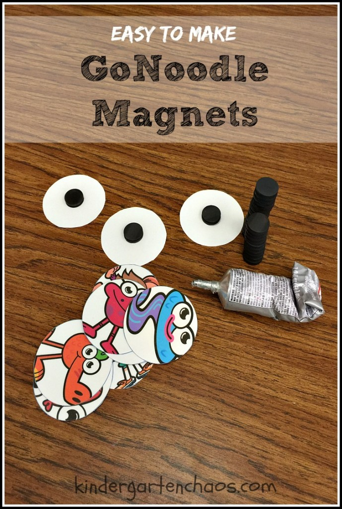 GoNoodle Magnets - Easy to Make - kindergartenchaos.com