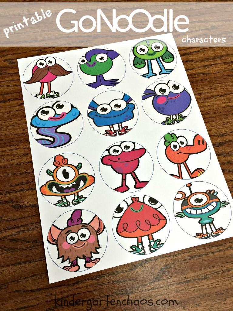 Printable GoNoodle Characters