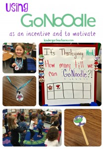 Using GoNoodle to motive and as an incentive