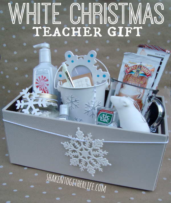 white christmas teacher gift shakentogether