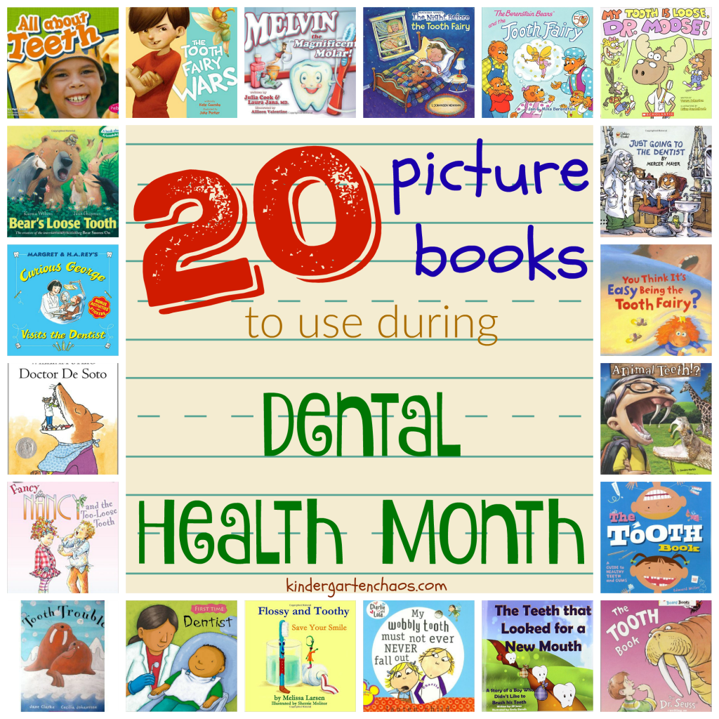 Books for Dental Health Month - kindergartenchaos.com