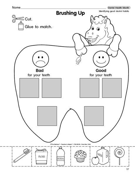 3329 2 on Clean Teeth Worksheet Sorting