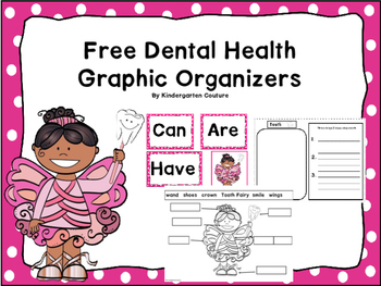 FREE Dental Health Writng and Graphic Organizers