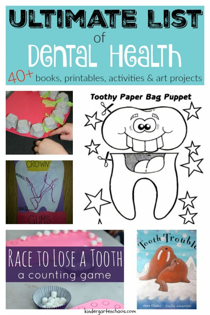Ultimate List of Dental Health Books, Activities, Printables, Art Projects - kindergartenchaos.com