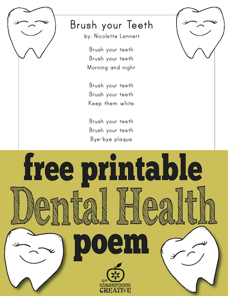 free-printable-dental-health-month-poem-for-preschool-kindergarten-and-first-grade