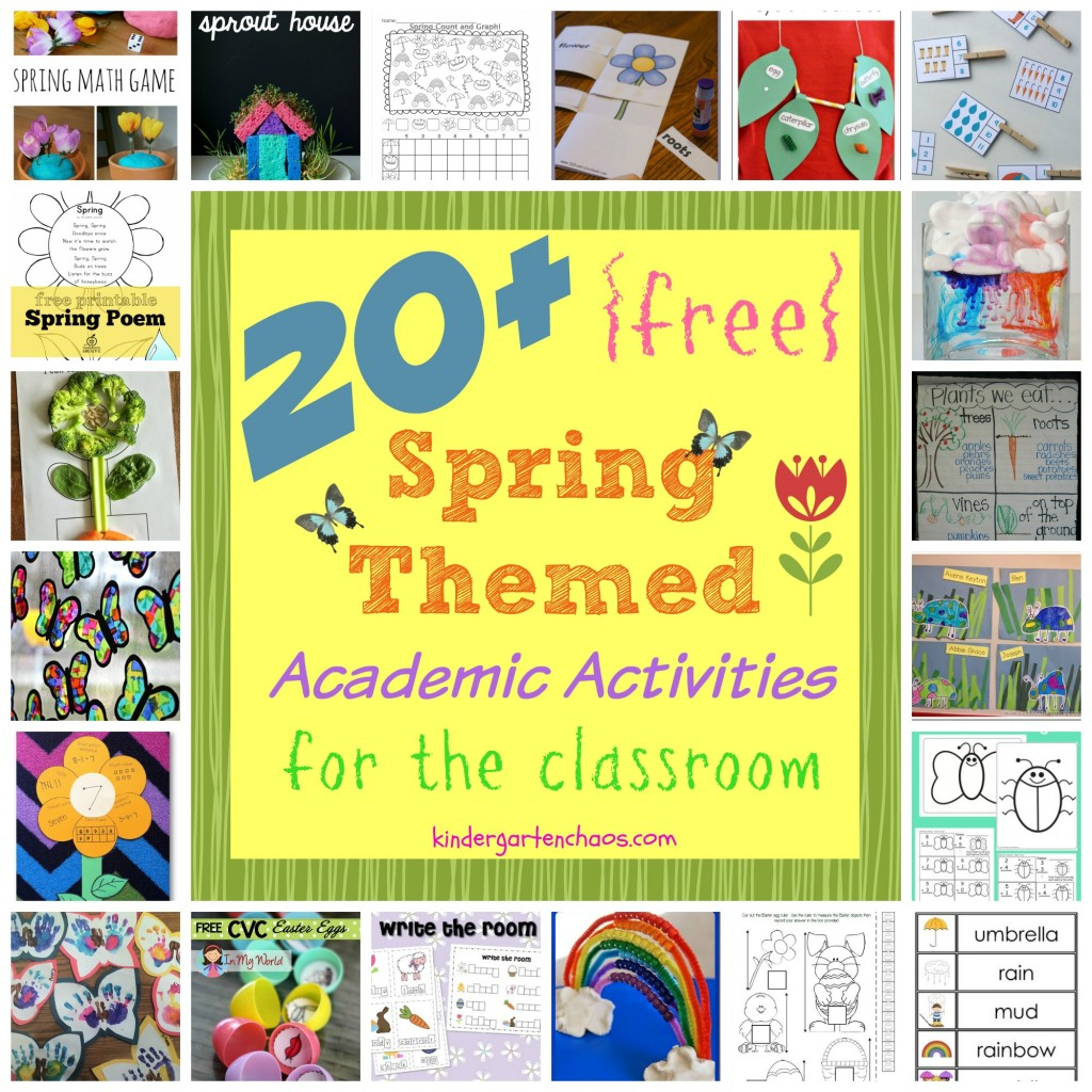 20+ FREE Spring Themed Academic Activities for the Classroom - kindergartenchaos.com