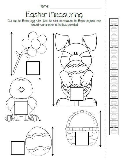 Easter Measuring Freebie
