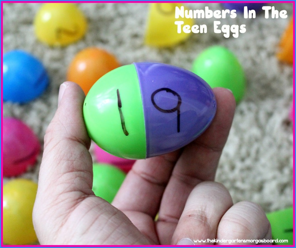 Make a Teen Number - kindergarten smorgasboard