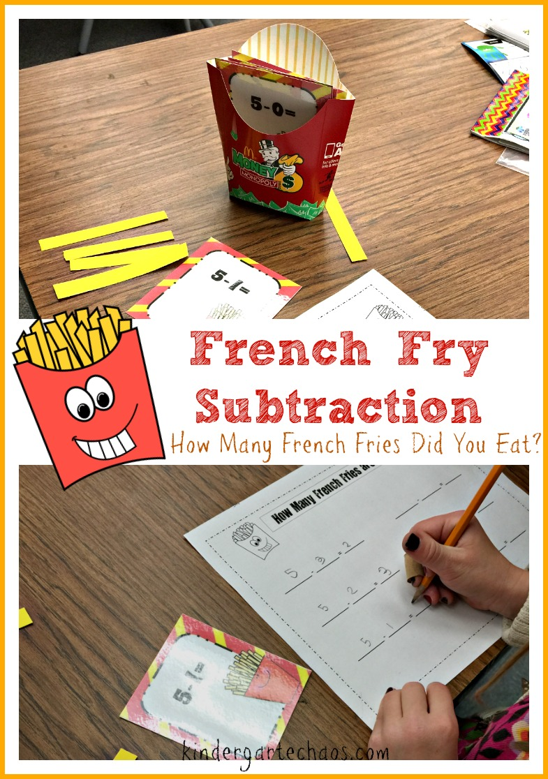 French Fry Subtraction - kindergartenchaos