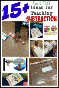 Ideas for Teaching Subtraction - kindergartenchaos.com