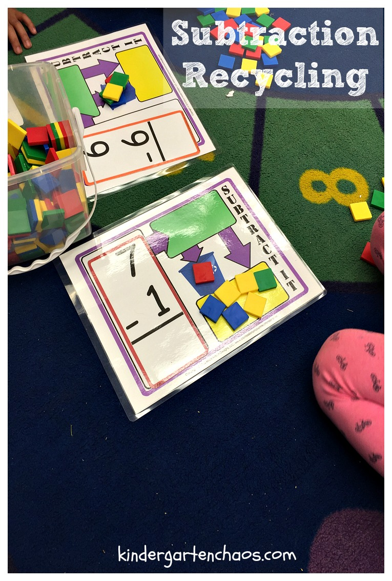 Subtraction Recycling - kindergartenchaos.com